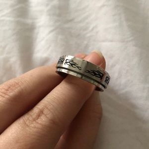 Jewelry - Spinner Ring Fire Flames